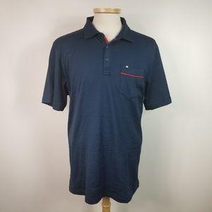 Travis Mathew Large Blue Mens Polo Golf Shirt